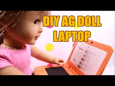 DIY AG American Girl Doll Laptop