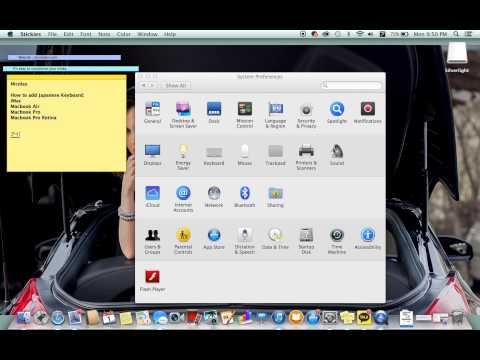 Mac : How to add Japanese Keyboard