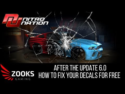 Nitro Nation - How to fix your decals after update 6.0 FOR FREE