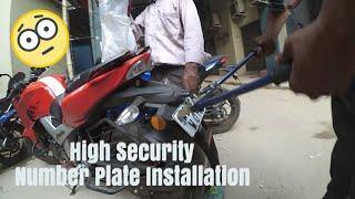 TVS APACHE RTR 1604V INSTALL |DISC LOCK| (HINDI