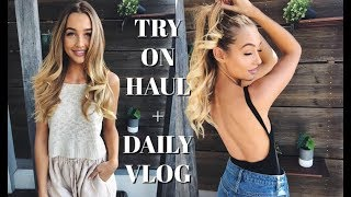 VLOG | Try On Clothing Haul + What I Eat in a Day