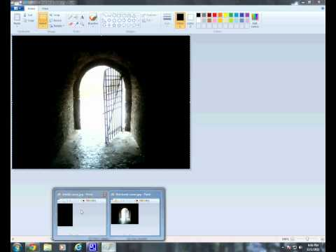 How to create a eBook Cover for your kindle ebook in Paint on Windows 7