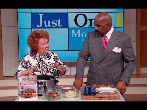 Cathy Mitchell: Pizza in a crockpot? || STEVE HARVEY