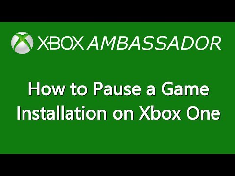 How to Pause a Game Installation on Xbox One | Xbox Ambassador Series