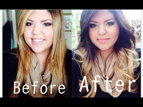 Dying My Hair! Blonde to Brown Ombre + Before & After Pics