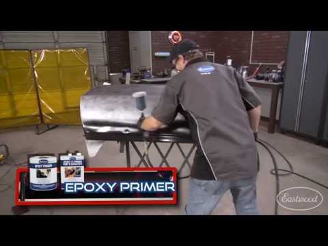 Spraying Epoxy Primer on a Car - Direct To Metal Primer - Kevin Tetz and Eastwood