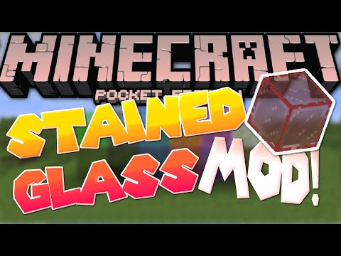 [0.13.0] Stained Glass in MCPE! - Mod Review - Minecraft PE (Pocket Edition)