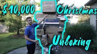 MY BIGGEST AIRSOFT UNBOXING $10,000 Massive Christmas Airsoft Unboxing Pt. 1