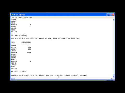 SQL TUTORIALS : How to rename the column
