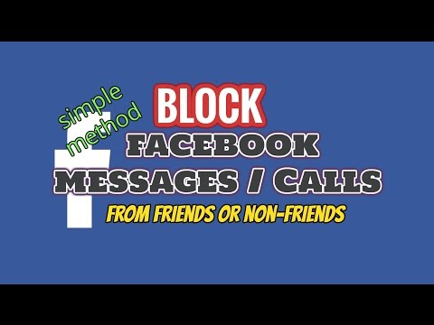 How To Block Messages or Calls On Facebook From Certain Friends / Non Friend