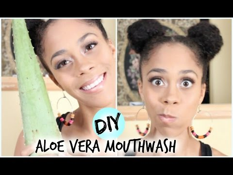 DIY Beauty: Aloe Vera Mouthwash - KILL Bad Breath!!