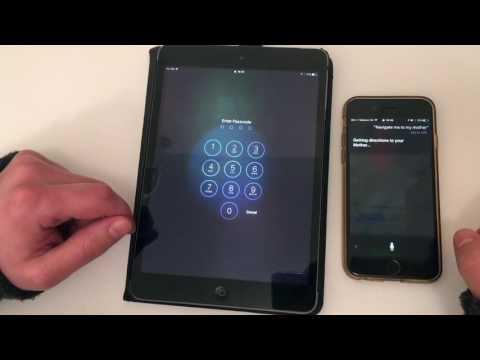Siri Data Leakage on locked iPhone, iPad IOS 10.1 - 10.2.1