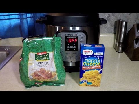 7 Min. Pressure Cooker Mac Cheese + Meatballs Instant Pot