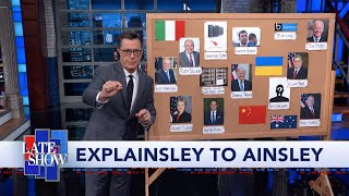 Colbert Explains The Ukraine Scandal To Ainsley Earhardt Of Fox & Friends