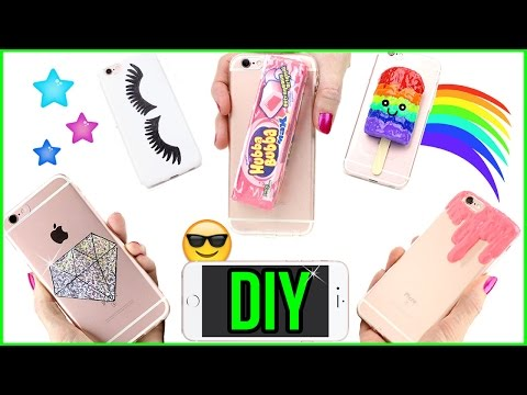 5 DIY Phone Cases! How To Make Slime, Edible Bubblegum, Kawaii, Holo! Easy Phone Cover Design DIYs