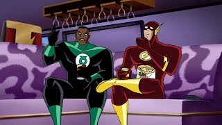 Flash and Green Lantern! Eating Chips!