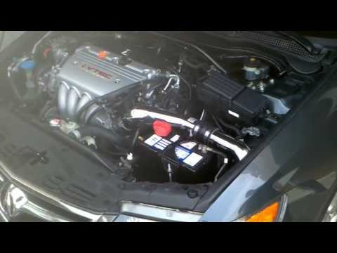 Acura TSX K&N Intake. 1st Start up and rev.
