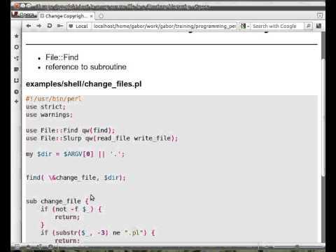 Beginner Perl Maven tutorial: 11.10 - File::Find