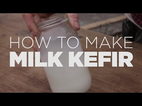 How to make real Milk Kefir, only three simple steps