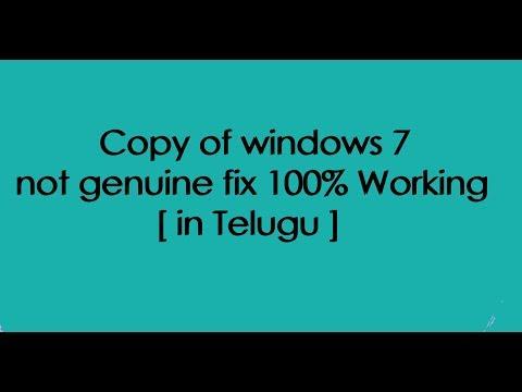Copy of windows 7 not genuine fix 100% Working #3