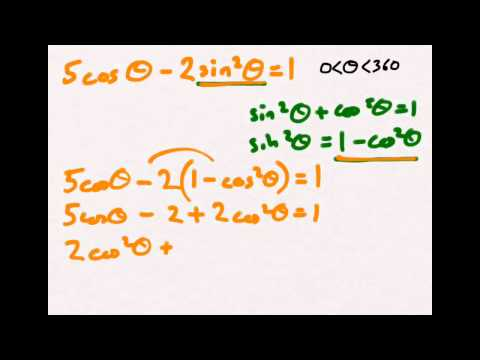 Using the sin²θ + cos²θ = 1 trigonometric identity to solve equations