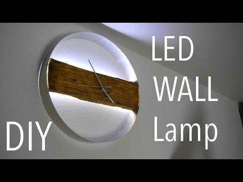 DIY WOOD CLOCK / Led Wand Uhr  Tutorial  Anleitung