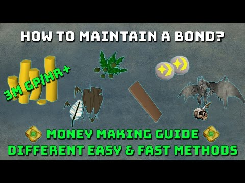 How to maintain a bond? [Runescape 3] Money Making Tips!