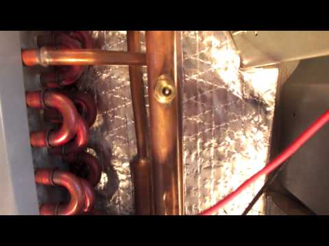 How to repair an Air Conditioning condenser leak