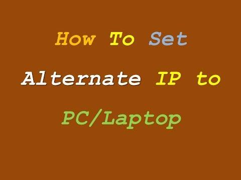 How to Set Alternate IP Address in Windows