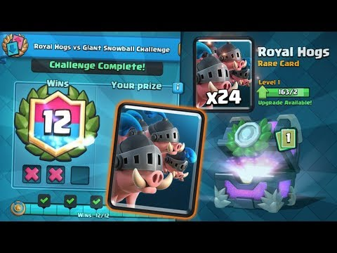 NEW ROYAL HOG 12 WINS DRAFT CHALLENGE GAMEPLAY | Clash Royale | HOW TO WIN NEW CHALLENGE!