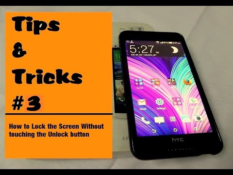 Tips and Tricks for HTC Desire 816 #3:How to Lock the Screen without Touching hardware button