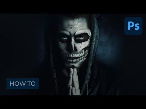 Photoshop in 60 Seconds: Paint Halloween-Inspired Skull Makeup