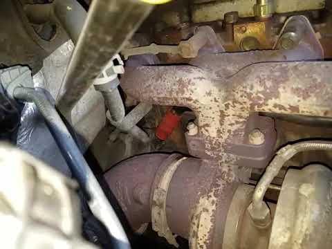 2006 dodge ram 5.9L Diesel replacing heater Return hose part 1