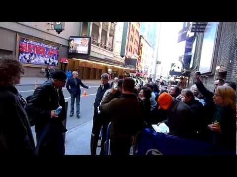 Hugh Jackman X Men Wolverine signing autographs at Back on Broadway