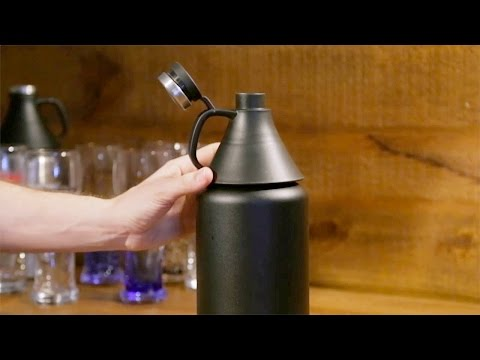 Stainless Steel Beer Growler from Cypress Home