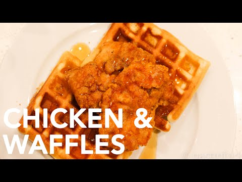 Easy Chicken and Waffles Recipe || Gastrofork.ca