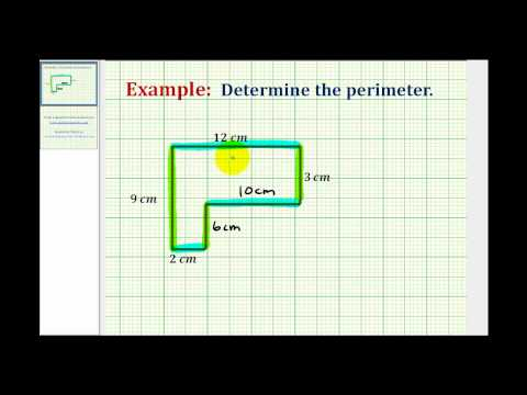 Ex: Find the Perimeter of an L-shaped Polygon Involving Whole Numbers