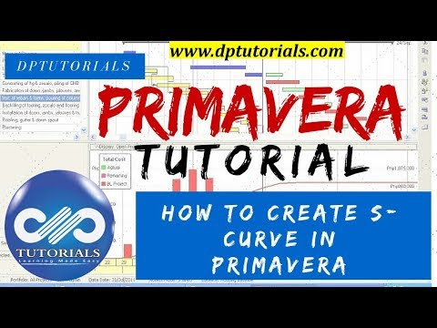 How to Create S Curve in Primavera  P6 with less Data || Learn Oracle Primavera || dptutorials