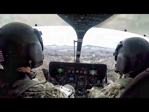 UH-72A Lakota Helicopter • Pilot Cockpit Video