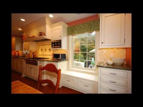 Kitchen window seat design