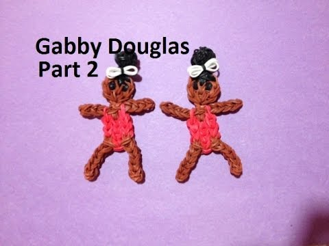 How to Make Gabby Douglas on the Rainbow Loom - Original Design Part 2