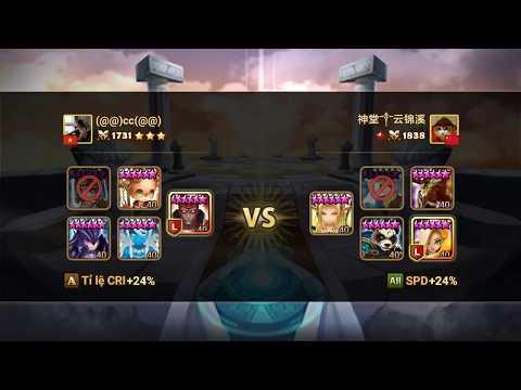 SUMMONERS WAR : Ragdoll (Dark Dragon Knight) vs arena