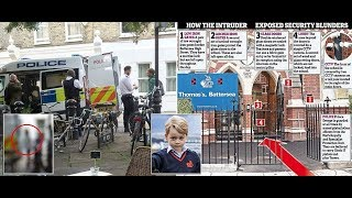 The moment suspected stalker trying to break into Prince George's new school