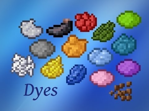 Minecraft - Crafting Recipes - Dyes