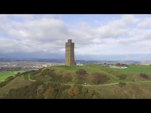 Castle Hill Huddersfield Drone Birdseye view