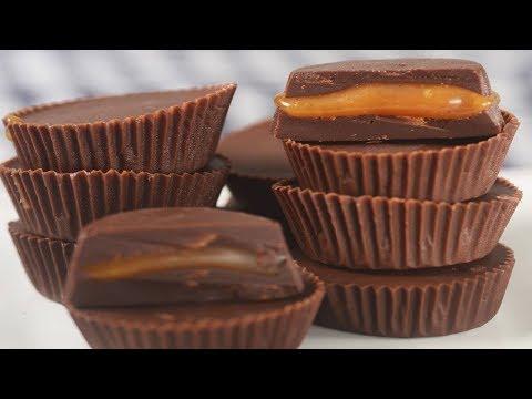 Chocolate Caramel Cups Recipe Demonstration - Joyofbaking.com