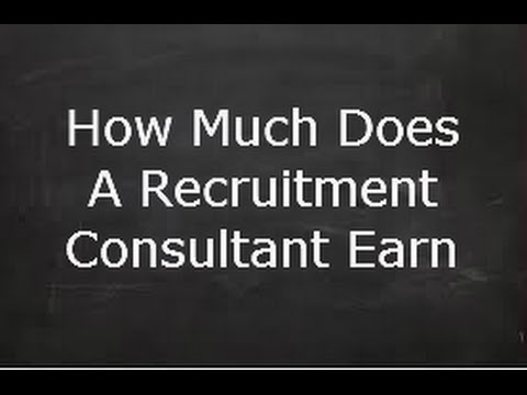 How Much Does A Recruitment Consultant Earn