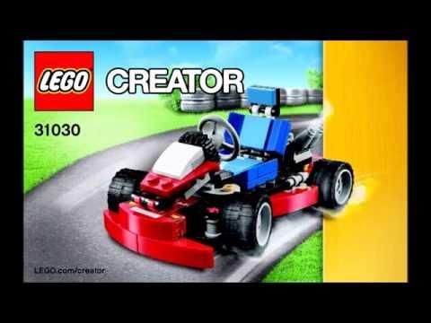 LEGO Creator Red Go-Kart 31030 3 in 1 Instructions DIY Book 1