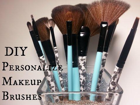 DIY: Personalized makeup brushes