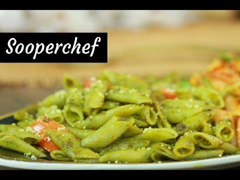 Pesto Pasta Recipe by SooperChef